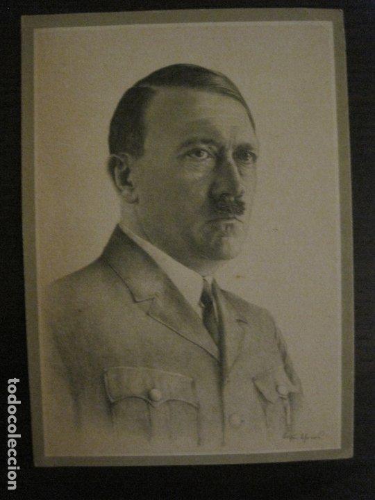 ADOLF HITLER-POSTAL ANTIGUA-VER FOTOS-(63.674) (Postales - Postales Temáticas - II Guerra Mundial y División Azul)