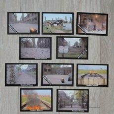 Postales: CARPETA CON 10 POSTALES - CAMPO DE CONCENTRACION AUSCHWITZ BIRKENAU 1993 - POLONIA POLAND CAMP. Lote 182003460