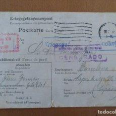 Postales: POSTAL ENVIADA DESDE ALEMANIA LAGER-BEZESICHNUNG-STALAG XB 1941 II GUERRA MUNDIAL CAMPO PRISIONEROS. Lote 182256925