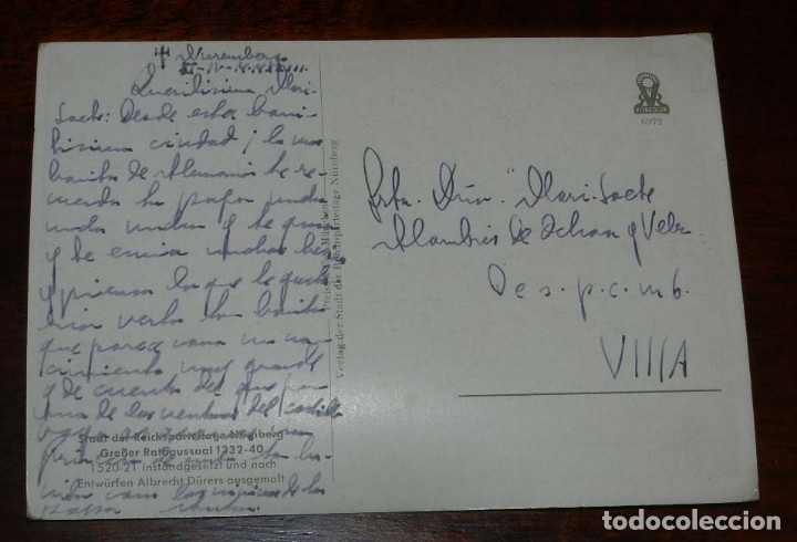 Postales: POSTAL ESCRITA EN CAMPAÑA POR UN OFICIAL ESPAÑOL DE LA DIVISION AZUL EN 1943, DIRIGIDA A SU HIJA EN - Foto 2 - 182390592