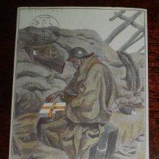 Postales: POSTAL DE LA GUERRA CIVIL, CON CENSUTA MILITAR, AÑO 1937, CIRCULADA.. Lote 182392035