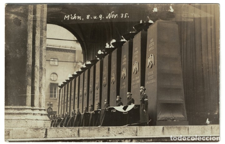 ALEMANIA TERCER REICH / NAZI – MUNICH, 1935 – ACTO HOMENAJE (LEER DESCRIPCIÓN) POSTAL FOTOGRÁFICA (Postales - Postales Temáticas - II Guerra Mundial y División Azul)