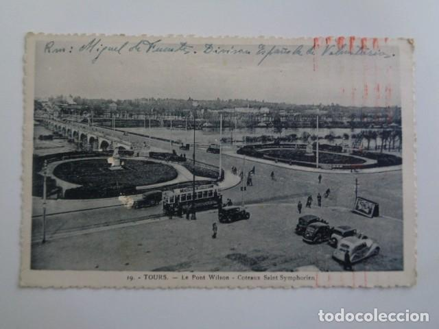 DIVISIÓN ESPAÑOLA DE VOLUNTARIOS. DIVISIÓN AZUL. 1942. POSTAL DESDE TROYES, FRANCIA. (Postales - Postales Temáticas - II Guerra Mundial y División Azul)
