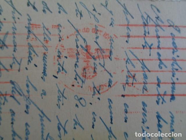 Postales: DIVISIÓN ESPAÑOLA DE VOLUNTARIOS. DIVISIÓN AZUL. 1942. POSTAL DESDE TROYES, FRANCIA. - Foto 3 - 192987406