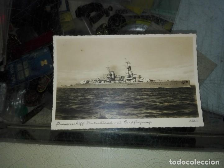 POSTAL PANZERSCHIFF DEUTSCHLAND MIT BARDFLUGZENG (Postales - Postales Temáticas - II Guerra Mundial y División Azul)