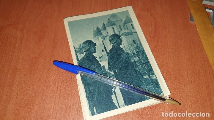 DIVISION AZUL, EN ESCUCHA FRENTE AL ENEMIGO, POSTAL SIN CIRCULAR, 15 X 10,5 CM. (Postales - Postales Temáticas - II Guerra Mundial y División Azul)