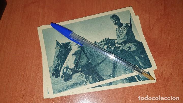 DIVISION AZUL, EN MARCHA HACIA EL FRENTE, POSTAL SIN CIRCULAR, 15 X 10,5 CM. (Postales - Postales Temáticas - II Guerra Mundial y División Azul)