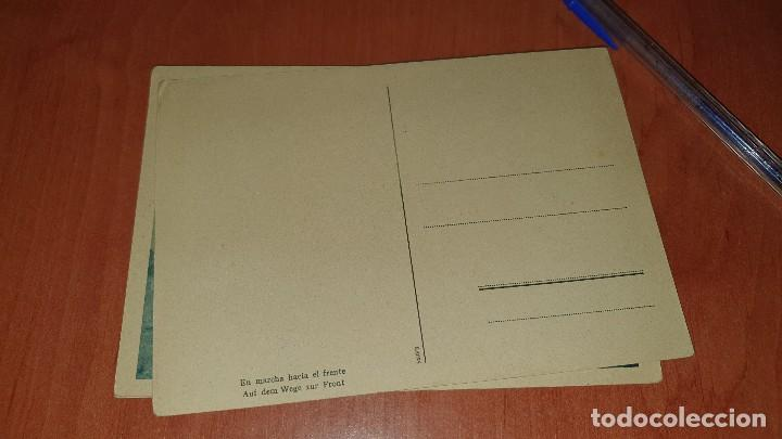 Postales: Division azul, en marcha hacia el frente, postal sin circular, 15 x 10,5 cm. - Foto 2 - 194130381