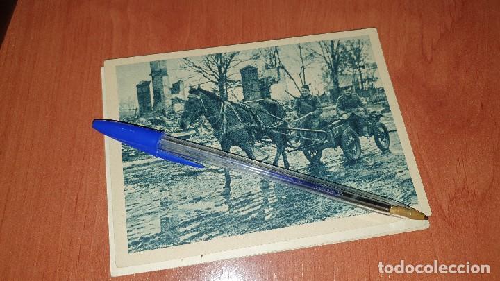 DIVISION AZUL, MUNICION A LA PRIMERA LINEA, POSTAL SIN CIRCULAR, 15 X 10,5 CM. (Postales - Postales Temáticas - II Guerra Mundial y División Azul)