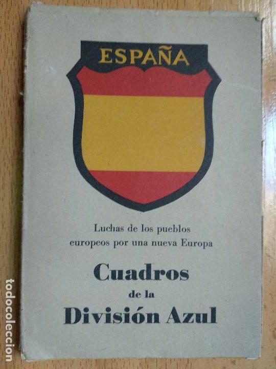 CUADROS DE LA DIVISION AZUL. LUCHAS DE LOS PUEBLOS EUROPEOS POR UNA NUEVA EUROPA 12 COMPLETA (Postales - Postales Temáticas - II Guerra Mundial y División Azul)