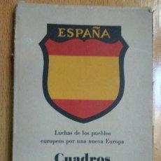 Postales: CUADROS DE LA DIVISION AZUL. LUCHAS DE LOS PUEBLOS EUROPEOS POR UNA NUEVA EUROPA 12 COMPLETA. Lote 194886868