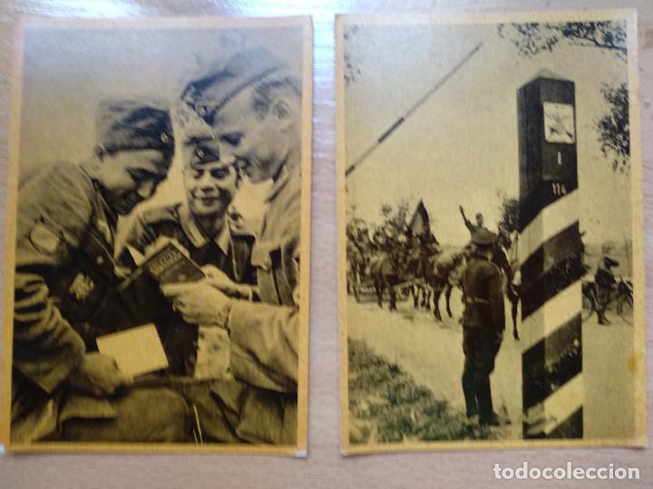 Postales: CUADROS DE LA DIVISION AZUL. LUCHAS DE LOS PUEBLOS EUROPEOS POR UNA NUEVA EUROPA 12 COMPLETA - Foto 4 - 194886868