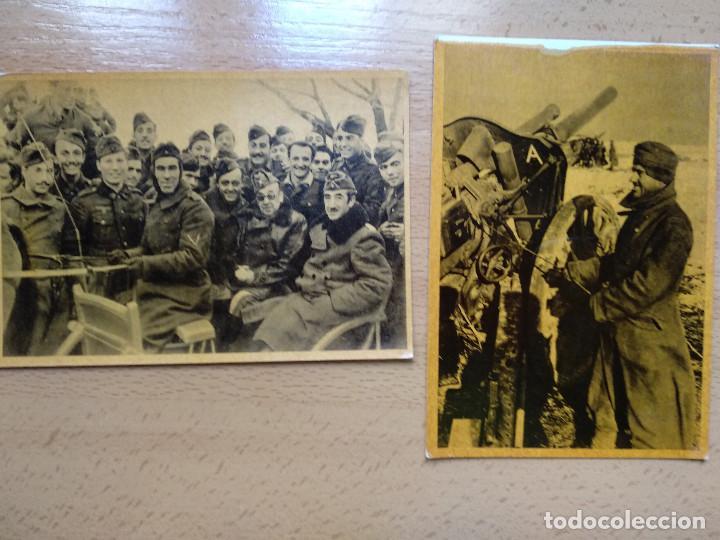 Postales: CUADROS DE LA DIVISION AZUL. LUCHAS DE LOS PUEBLOS EUROPEOS POR UNA NUEVA EUROPA 12 COMPLETA - Foto 6 - 194886868
