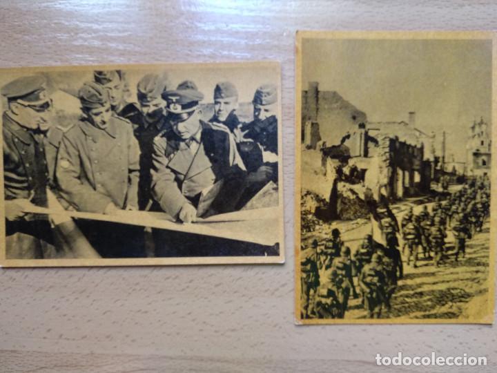 Postales: CUADROS DE LA DIVISION AZUL. LUCHAS DE LOS PUEBLOS EUROPEOS POR UNA NUEVA EUROPA 12 COMPLETA - Foto 8 - 194886868