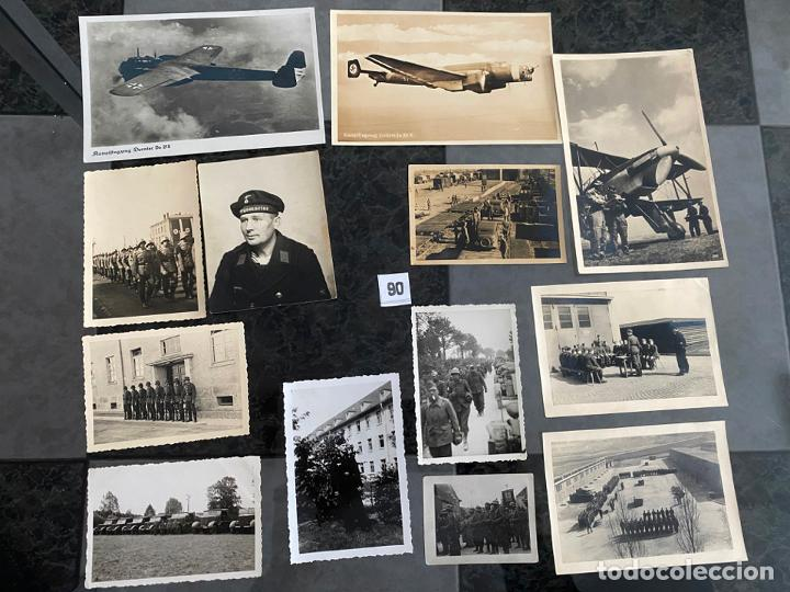 LOTE DE 13 POSTALES Y FOTOGRAFÍAS MILITARES , ALEMANIA SEGUNDA GUERRA MUNDIAL (Postales - Postales Temáticas - II Guerra Mundial y División Azul)