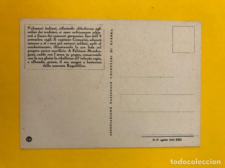 Postales: MILITAR. Postal Italiana en memoria del Primer caído el Capitán Cozzarini (a.1944) - Foto 2 - 195313138