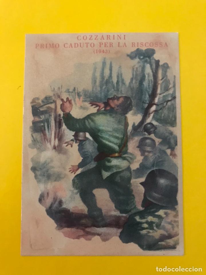 MILITAR. POSTAL ITALIANA EN MEMORIA DEL PRIMER CAÍDO EL CAPITÁN COZZARINI (A.1944) (Postales - Postales Temáticas - II Guerra Mundial y División Azul)