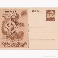 Postales: POSTAL CONMEMORATIVA DE LA CONCENTRACIÓN DE LAS SA EN BERLIN DEL 15 AL 17 DEJULIO DE 1938.. Lote 196934652