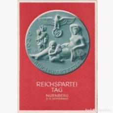 Postales: POSTAL DE LA CELEBRACION DEL DÍA DEL PARTIDO NAZI EN NUREMBERG SEPTIEMBRE 1939. NAZI.III REICH.. Lote 197050082