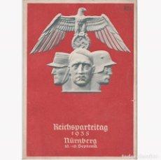 Postales: POSTAL DE LA CELEBRACION DEL DÍA DEL PARTIDO NAZI EN NUREMBERG SEPTIEMBRE 1935. NAZI.III REICH.. Lote 197051940