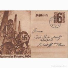 Postales: CELEBRACIÓN DE LA FIESTA NACIONAL DEL 1 DE MAYO 1934. NAZI. III REICH,. Lote 197067031