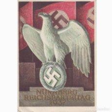 Postales: POSTAL CELEBRACION DEL DÍA DEL PARTIDO NAZI EN NUREMBERG SEPTIEMBRE 1937. MUY RARA.NAZI.III REICH.. Lote 197216922