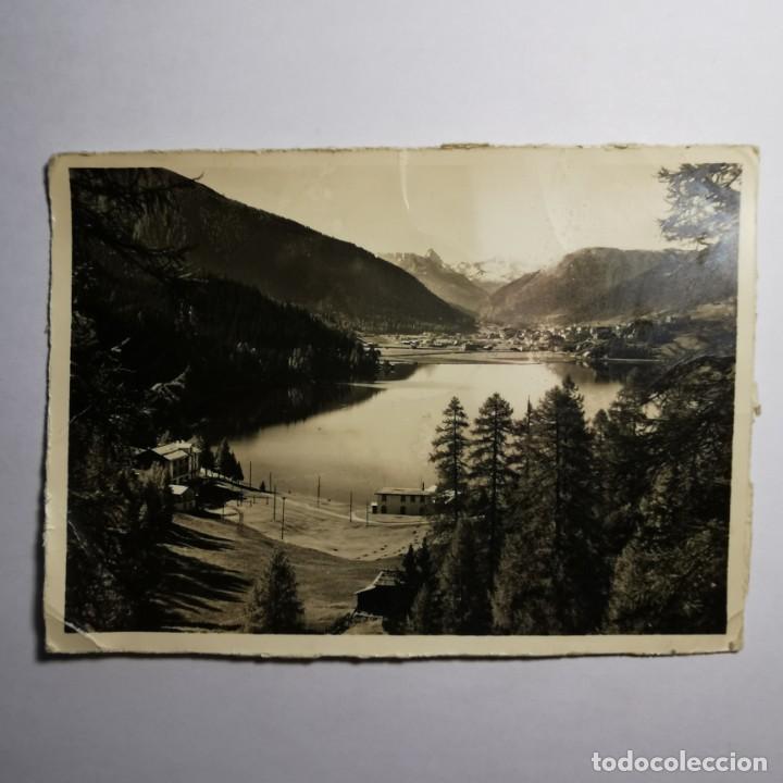 ANTIGUA POSTAL - FOTO CON TAMPON NAZI - AÑO 1943 - GUERRA MUNDIAL - DAVOSERSEE GEGEN DAVOS - 19 (Postales - Postales Temáticas - II Guerra Mundial y División Azul)