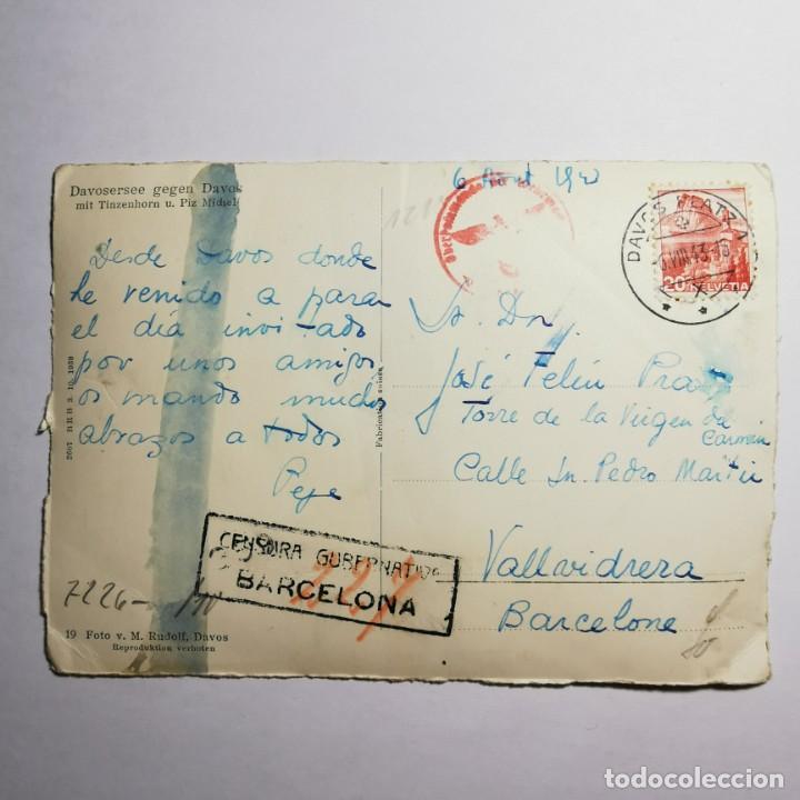 Postales: ANTIGUA POSTAL - FOTO CON TAMPON NAZI - AÑO 1943 - GUERRA MUNDIAL - DAVOSERSEE GEGEN DAVOS - 19 - Foto 2 - 200009657