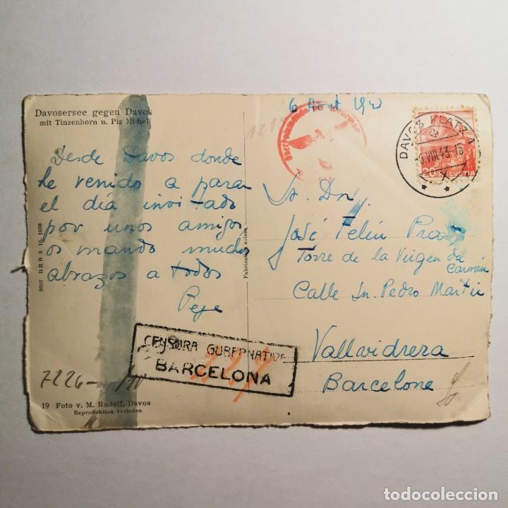 Postales: ANTIGUA POSTAL - FOTO CON TAMPON NAZI - AÑO 1943 - GUERRA MUNDIAL - DAVOSERSEE GEGEN DAVOS - 19 - Foto 3 - 200009657