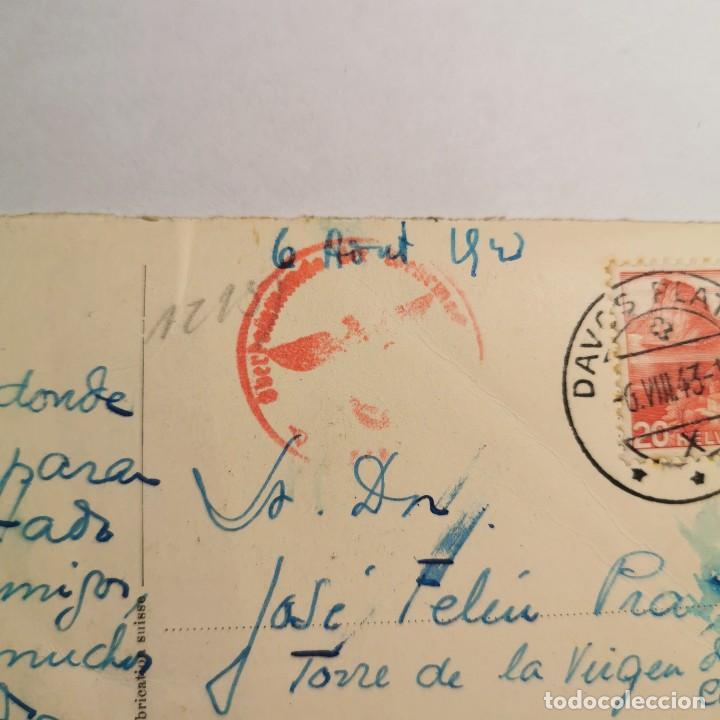 Postales: ANTIGUA POSTAL - FOTO CON TAMPON NAZI - AÑO 1943 - GUERRA MUNDIAL - DAVOSERSEE GEGEN DAVOS - 19 - Foto 4 - 200009657