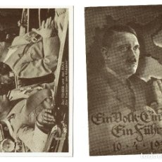 Postales: LOTE 4 POSTALES HITLER TERCER REICH - SON RÉPLICAS DE LOS AÑOS 70 -. Lote 202816847
