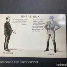 Postales: TARJETA POSTAL. ENTRE EUX. HITLER Y AL CAPONE. G.-31.. Lote 205250467