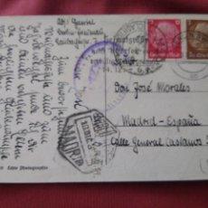 Postales: POSTAL ENVIADA DESDE ALEMANIA A ESPAÑA. CORREO AÉREO. MADRID DICIEMBRE DE 1939. Lote 205804941
