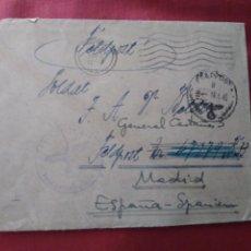 Postales: SOBRE CON CARTA VOLUNTARIO DIVISIÓN AZUL. FELDPOST. CORREO MILITAR. Lote 205805360