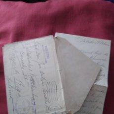 Postales: SOBRE CON CARTA ENVIADA A RIGA DIVISIÓN AZUL. VOLUNTARIO MILITAR.. Lote 205807381