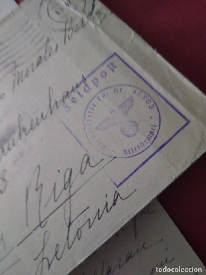 Postales: Sobre con carta enviada a Riga División Azul. Voluntario militar. - Foto 3 - 205807381