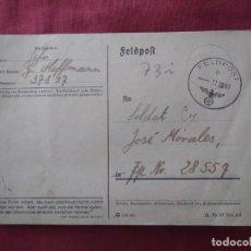 Postales: POSTAL CORREO ALEMÁN FELDPOST.. 1941 DIVISIÓN AZUL.. Lote 205808202