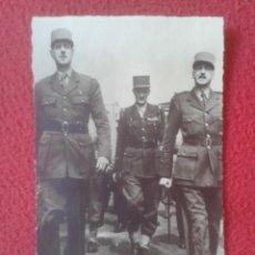 Postales: POST CARD LES GÉNÉRAUX LOS GENERALES DE GAULLE LECLERC ET Y KOENIG FRANCIA WAR MILITAR ARMY FRANCE... Lote 209943520
