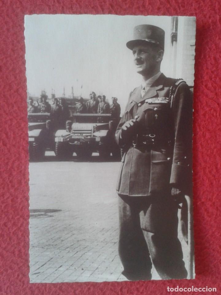 POST CARD EL GÉNÉRAL PHILIPPE LECLERC FRANCIA FRANCE MILITAR EJÉRCITO ARMY GUERRE WAR WORLD....VER.. (Postales - Postales Temáticas - II Guerra Mundial y División Azul)