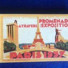 Postales: SOUVENIR EXPO PARIS 1937 20 POSTALES DE PABELLONES Y EXPOSICION. Lote 210474656