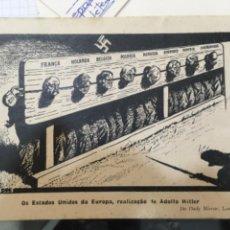 Postales: ADOLFO HITLER. OS ESTADOS UNIDOS DA EUROPA. Lote 211413507