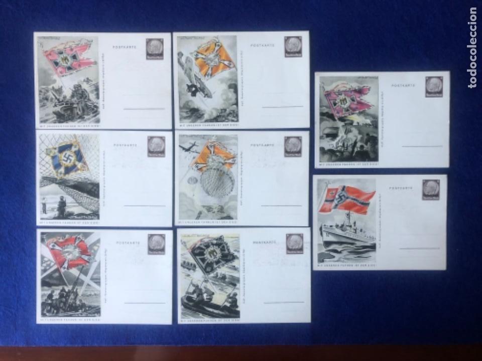COLECCIÓN DE POSTALES ORIGINALES ALEMANAS ESTANDARTES DEL EJÉRCITO (Postales - Postales Temáticas - II Guerra Mundial y División Azul)