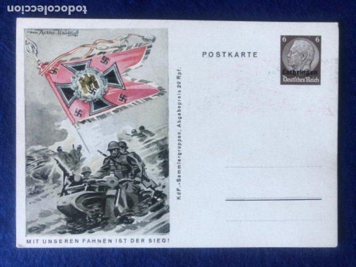 Postales: Colección de postales originales alemanas estandartes del ejército - Foto 2 - 212509152