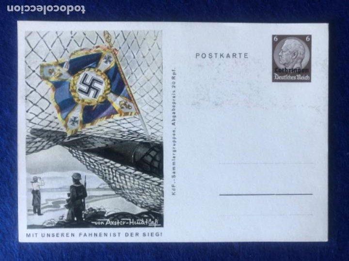 Postales: Colección de postales originales alemanas estandartes del ejército - Foto 3 - 212509152