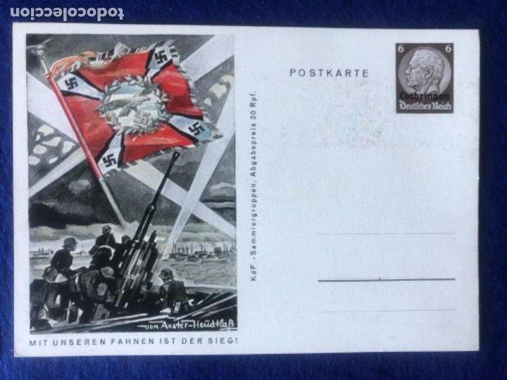 Postales: Colección de postales originales alemanas estandartes del ejército - Foto 4 - 212509152