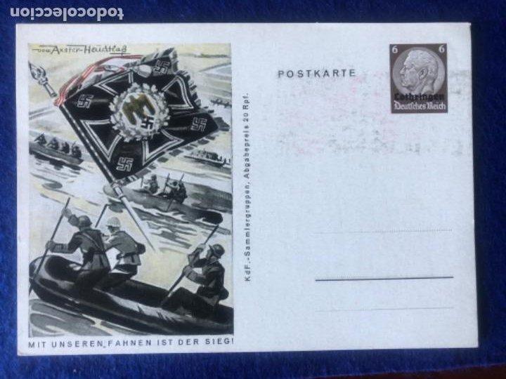 Postales: Colección de postales originales alemanas estandartes del ejército - Foto 5 - 212509152