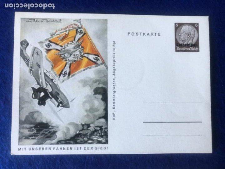 Postales: Colección de postales originales alemanas estandartes del ejército - Foto 6 - 212509152