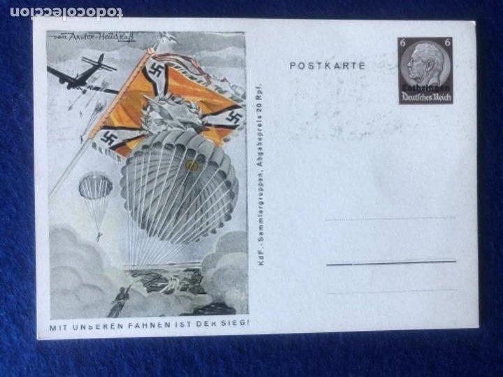 Postales: Colección de postales originales alemanas estandartes del ejército - Foto 7 - 212509152