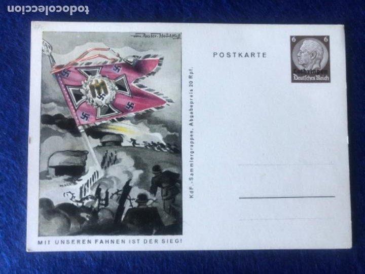 Postales: Colección de postales originales alemanas estandartes del ejército - Foto 8 - 212509152