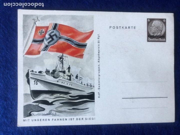 Postales: Colección de postales originales alemanas estandartes del ejército - Foto 9 - 212509152